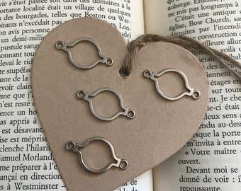 Mini silver round frames