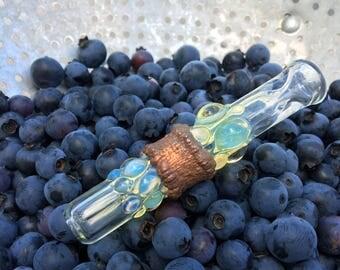Silver Fume Color Changing Borosillicate Glass Chillum Smoking Pipe