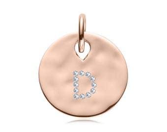 Rose Gold Diamond Luxury Cat Name Tag