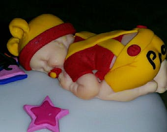 "Baby Pooh while fimo ""pooh"""