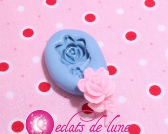 Mold silicone Rose with stem 22 / 14mm
