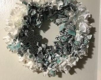 "14"" rag wreath"