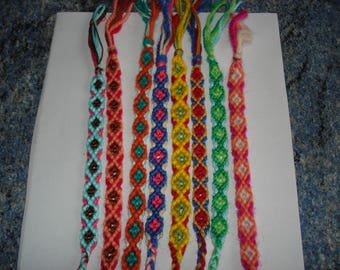 set of 8 bracelets handmade stretchy adults or children