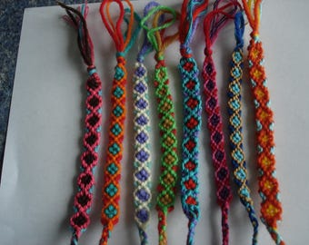 set of 8 Bracelets or friendship Bracelets handmade new