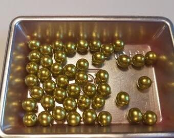 Round beads 6MM olivine Green