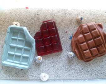 croque silicone chocolate mold for polymer clay wepam resin cast