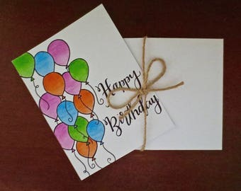 Balloon Bonanza Happy Birthday Card (set of 5)