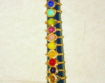 Chakra Stone Wire Wrapped Ring