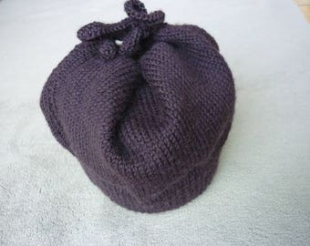 Beginnings of winter with this cute chocolate-colored Beanie