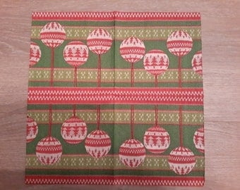 paper napkins depicting curls of Christmas set of 2