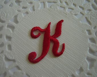 MONOGRAM TO PERSONALIZE RED ¤ LETTER K