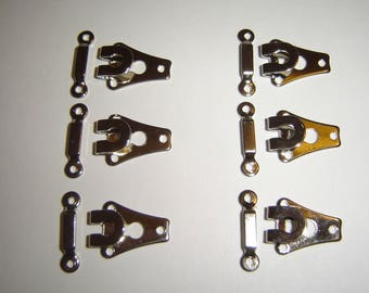 6 PAIRS of METAL clips / / 13 X 20 mm