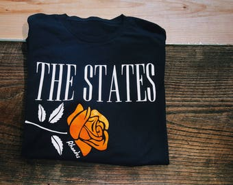 The States Rose Motorcycle T-Shrit, Rhodes Brand Pennsylvania
