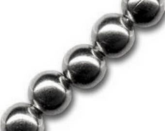 beads 2 mm black nickel