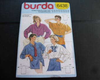 Burda summer blouse pattern woman 34 to 40-4 variants