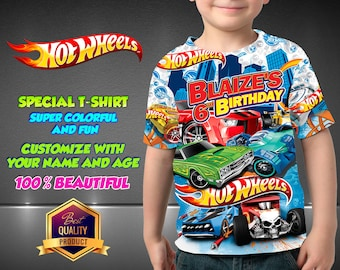 HOT WHEELS Birthday Shirt, Hot Wheels Custom Shirt, Personalized Hot Wheels Shirt, Hot Wheels family shirts, Birthday t-shirts Disney Family