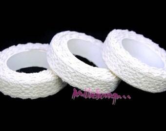 Rouleur de 2,5 m masking tape tissu dentelle crème autocollant embellissement scrapbooking*