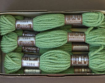 8 m skein 7384, green, 100% pure wool Colbert