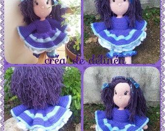 Louna beautiful doll dress and petticoat