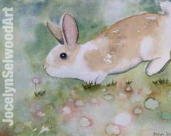 Binky Bunny Print