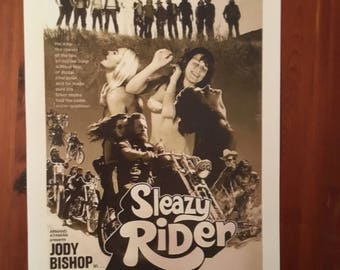 Vintage Sleazy Rider Poster