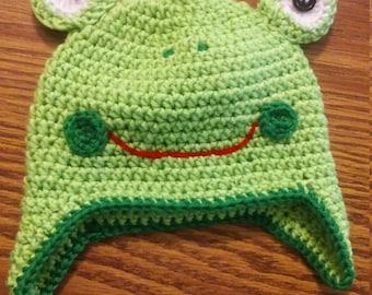 6-12 months frog hat