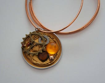 Coffee - Cap necklace recycled Capsteam