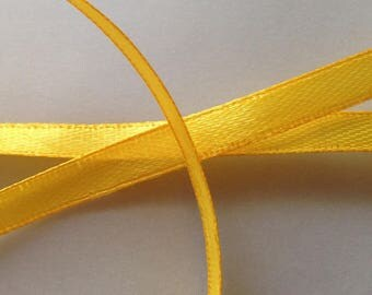 SET of 22 yards 6 color yellow 12 mm SATIN Ribbon