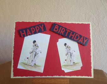 birthday card with two-player croquet