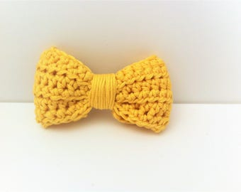 Brooch yellow, cotton bowtie