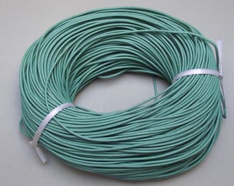 1 meter cord genuine leather 2 mm turquoise