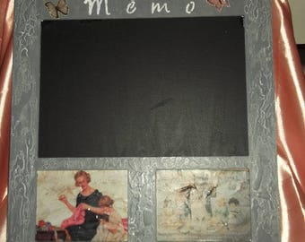 Shabby style with slate memo Board