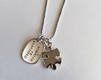 Different is Beautiful Autism Necklace