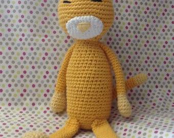 Cat blanket handmade crochet