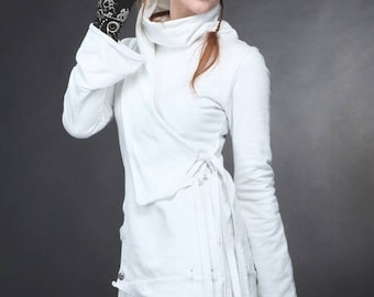 Ninja White Turtleneck Sweater