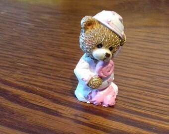 Little bear resin Rose for decoration.