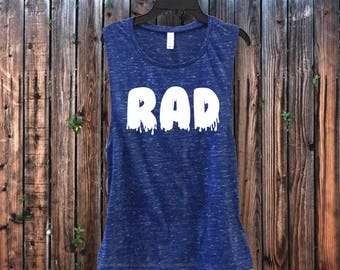 Rad Yoga Muscle Tank for Gym - Made to order! Free Shipping! Ships within 1-2 days!