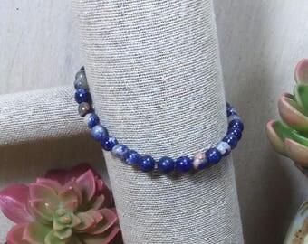 Sodalite Gemstone | Stretch Bracelet | Stacking Bracelet | Boho Bracelet | Crystal Bracelet | Healing Crystal Jewelry