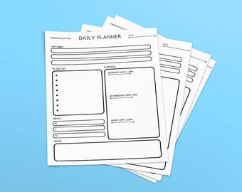 Daily Planner Printable PDF Editable fillable Organiser A4+US Letter Sizes Available Instant Download | Motivational Quote.