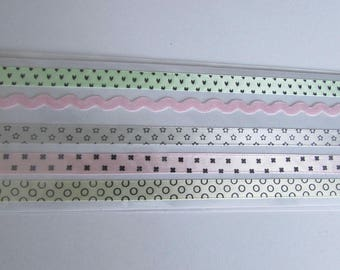 Adhesive fabric ribbons