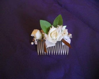 HAIR COMB WEDDING HAIR FLOWERS AND BEADS