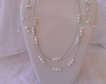 set necklace and Earring Pearly beads