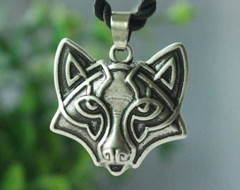 Antique Slavic Fox Pendant Necklace