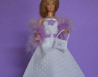 White dress for Barbie (B130)