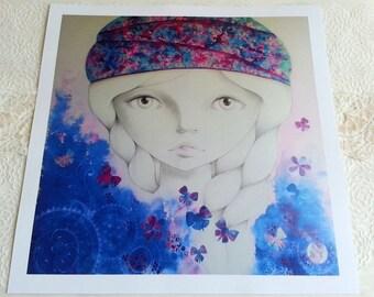 "Art print ""Awaiting spring"" 1/8"