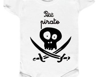 """onesie """"little pirate"""" skull, funny baby Bodysuit"""