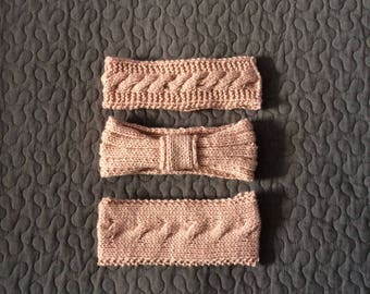 Wool old rose headbands / 3 models to choose from.