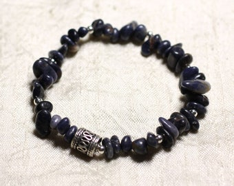 Bracelet 925 sterling silver and stone - Sapphire