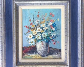 Vintage Oil Painting Flower Still Life Charming Painting Gift.