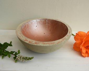 Copper concrete Cup: decorative item - candle